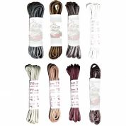 75cm BRITISH QUALITY Fine Waxed Shoe Laces, Boot Laces Choice of Colours